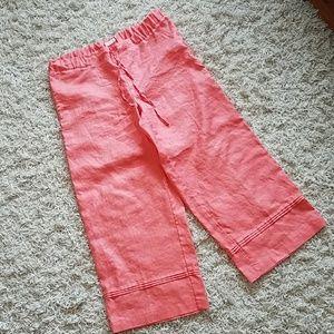 Livvy by Liz Claiborne linen peach cropped pants